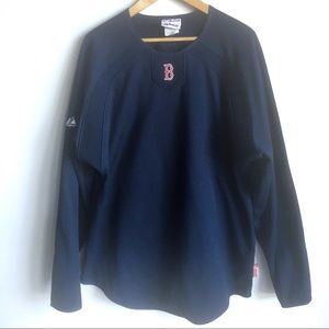 Men's Majestic Red Sox Therma Base Pullover
